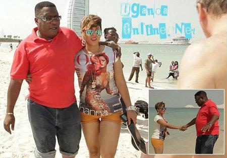 Sam Bbosa and Julie Underwood having a nice time at Jumeirah beach