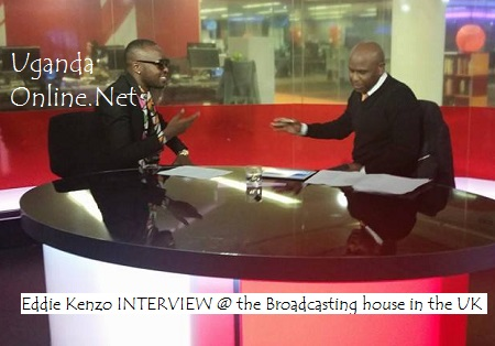 Eddy Kenzo while appearing on BBC - Focus on Africa