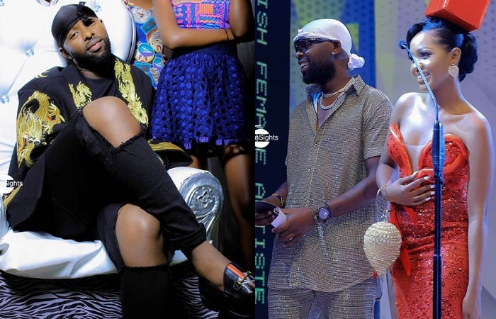 Eddy Kenzo during the Semyekozo video shoot and on right is the couple at the fashion awards