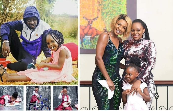 Aamaal and her parents Eddy Kenzo and Rema Namakula
