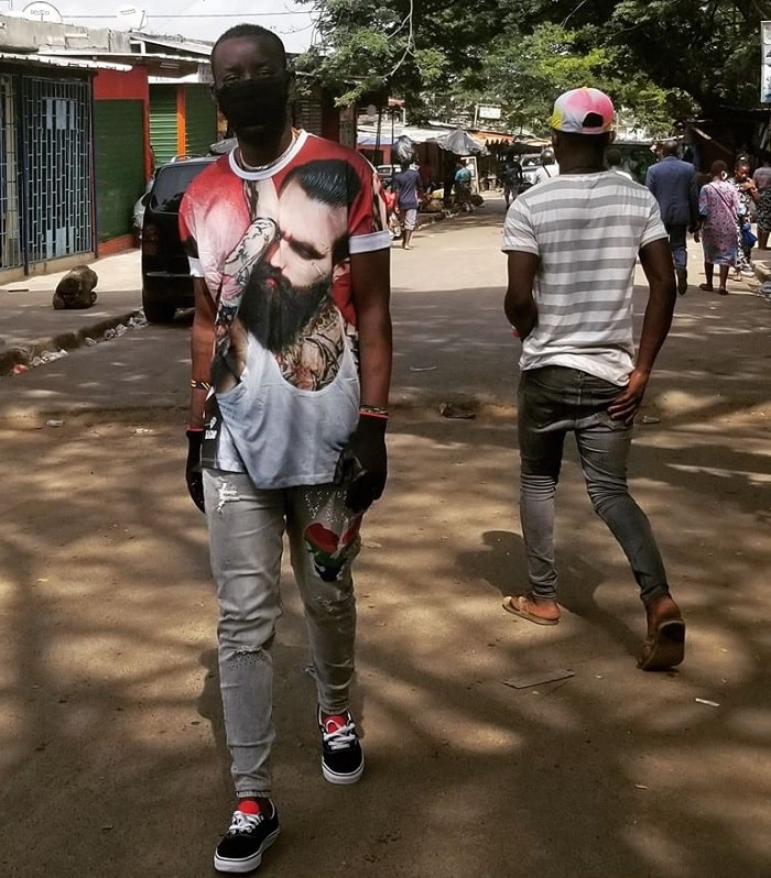 Eddy Kenzo strolling down the old city in Ivory Coast