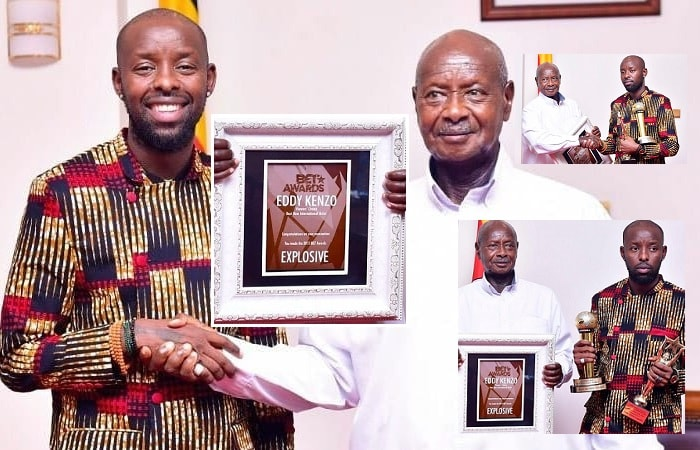 Eddy Kenzo meets President Museveni at State House