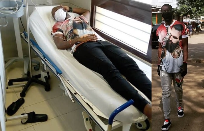 Eddy Kenzo oa na hospital bed in Ivory Coast