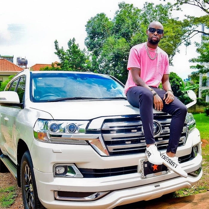Eddy Kenzo strikes a pose on his ride...
