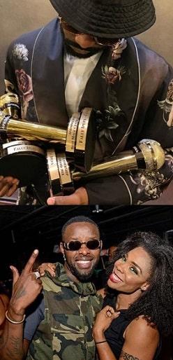 Fally Ipupa with his awards