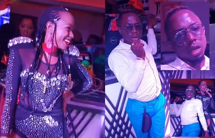 Sheebah was reduced to looking on after being out-danced
