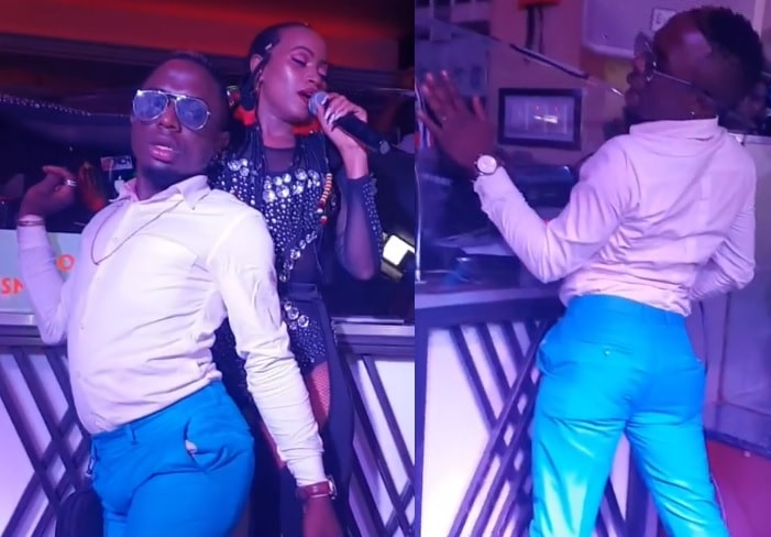 Sheebah and the male fan doing their thing