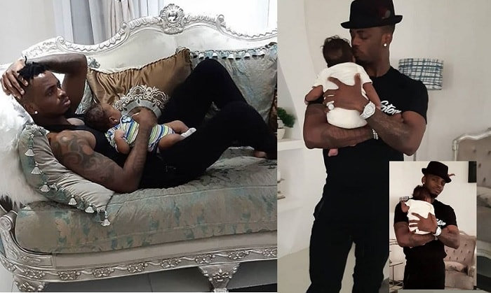 Diamond Platnumz and his son Naseeb Jr.