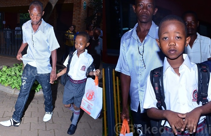 Fresh Kid and Dad Pau Mutabazi at Kampala Parents School