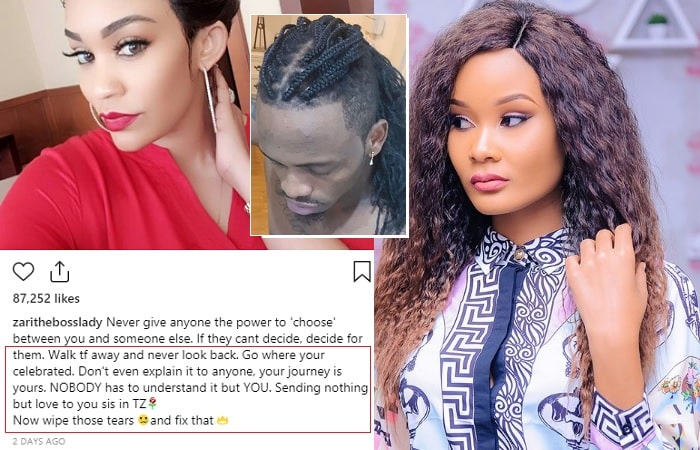 Zari's message to Hamisa after break up with Diamond Platnumz