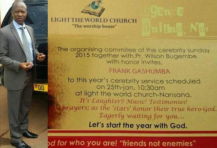 Frank Gashumba explains why he snubbed the celebrity Sunday service