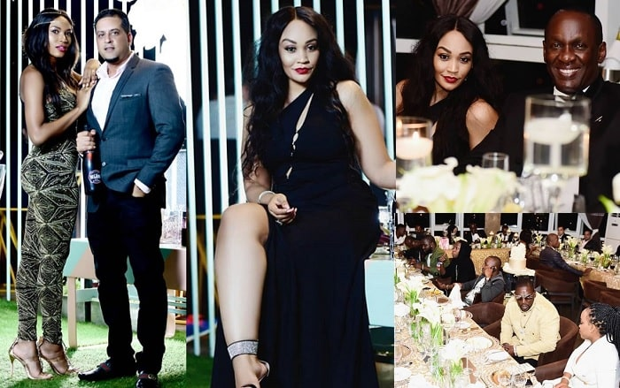 Some of the guests at Zari's private birthday party