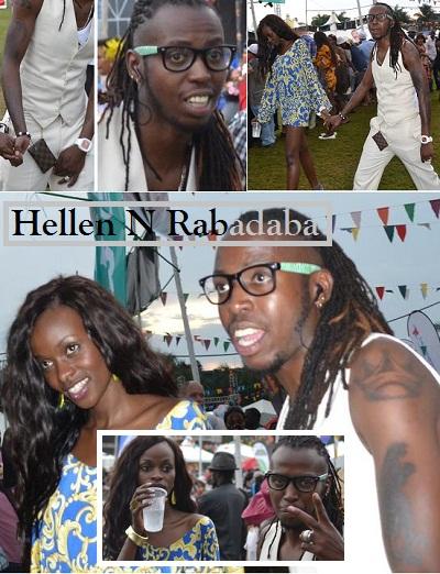Hellen Lukoma and the Omansuza star Rabadaba