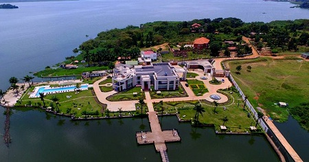 Aerial view of Ham Kiggundu's property