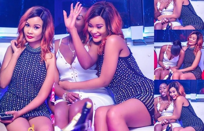 Hamisa and best female friend Cuppy Ayokya having fun at Club Memphis