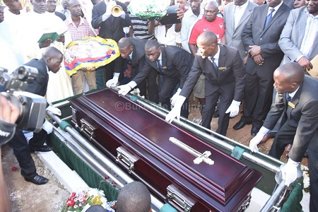 Harriet Kisakye being laid to rest