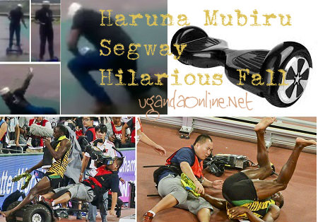 Haruna Mubiru segway hilarious fall