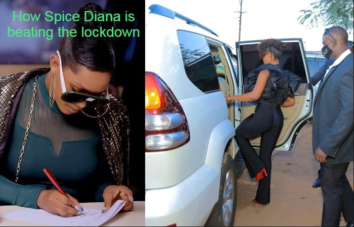 Spice Diana putting pen on paper to one of her latest contracts