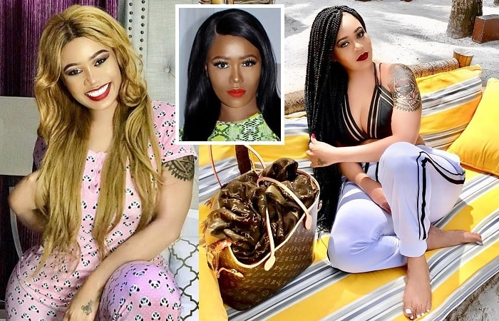 Some of Vera Sidika's last pics in her bleached complexion