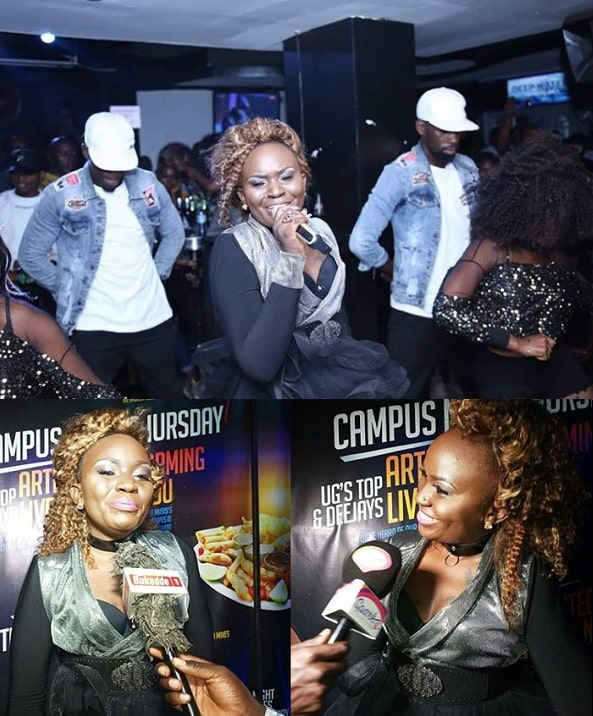 Jackie Chandiru performing at Club Amnesia yesterday