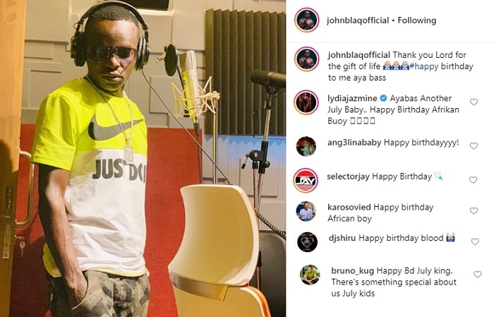 Several celebrities wished John Blaq a Happy Birthday