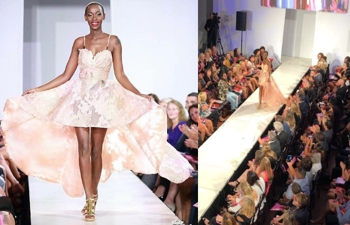 Judith Heard left the guests yearning for more after dazzling on the catwalk