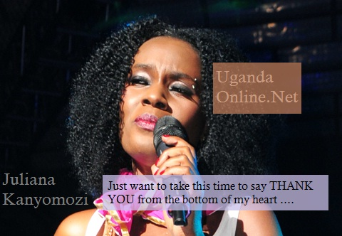 Juliana Kanyomozi thanks fans for being their for her
