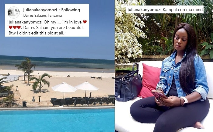 Juliana Kanyomozi enjoying the Tanzanian attractions