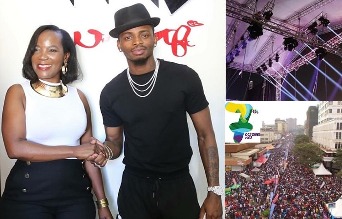 Diamond Platnumz was the lead artist at last year's KCCA festival