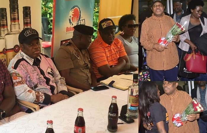 Kanda Bongo Man on arrival and during the press conference
