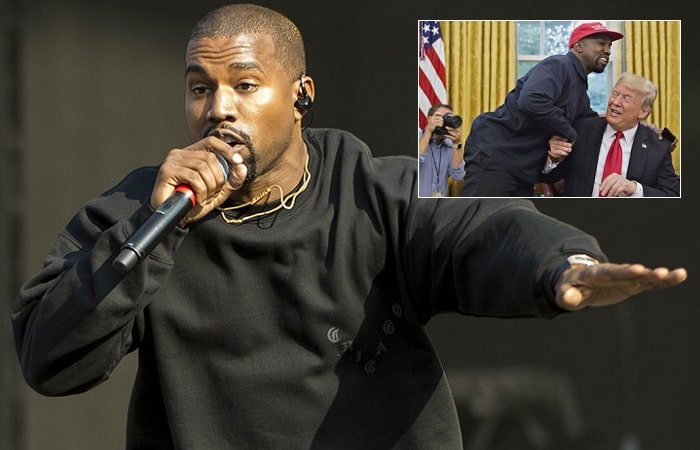 Kanye West to shoot scenes of his Yandhi album in Uganda. Inset is Kanye meeting US President Donald Trump at the White House