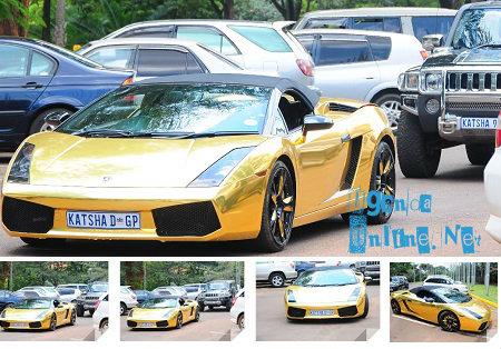 Katsha's Lambo and Hummer at Serena Hotel in Kampala