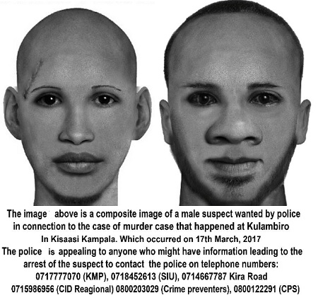 Composite images of the two suspects in the Kaweesi murder