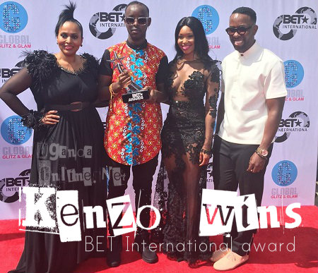 Eddy Kenzo with the BET Award