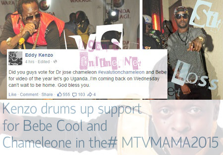 Eddy Kenzo throws his weight behind the two artistes