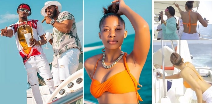 Kim Nana enjoying Diamond Platnumz birthday boat cruise last month