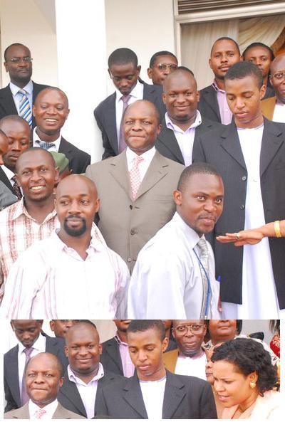 Kabaka Mutebi next to King Oyo
