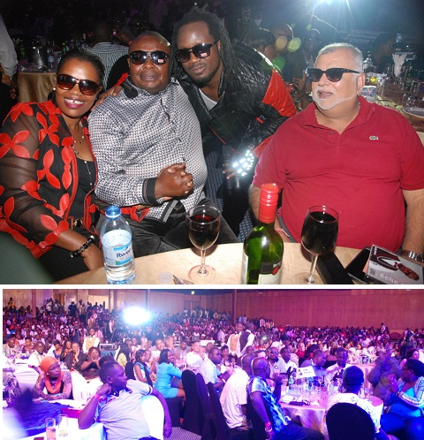 Bebe Cool posing with some of the VVIP guests