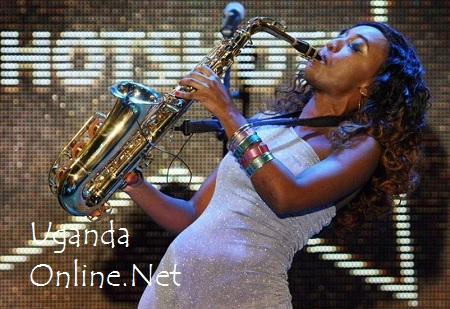 Saxophonist Laveda doing her thing