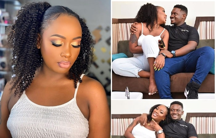 Leila Kayondo in a cozy and romantic meeting with her hair stylist
