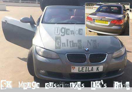 Leila's BMW is now customised
