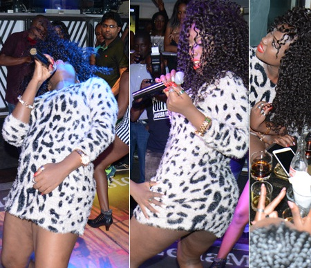 Leila Kayondo doing her thing at Guvnor