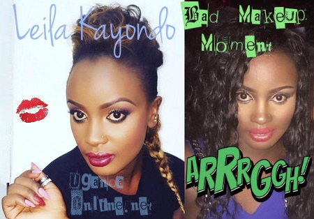 Leila Kayondo's bad makeup day