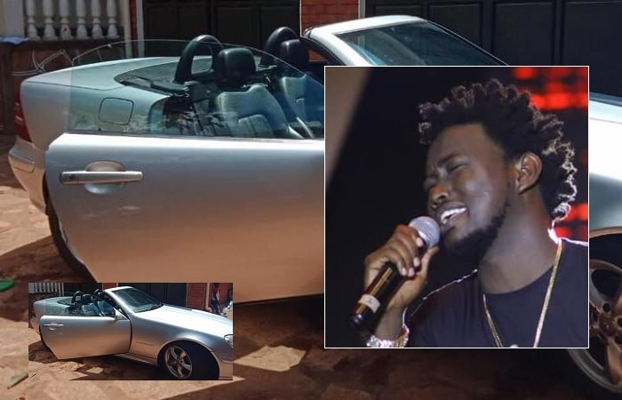 The 2-seater Merc that Afande Lanek gave Levixone Lucas during his Turn the Replay concert