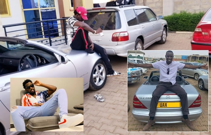 Levixone strikes a pose on the SLK 200 Merc