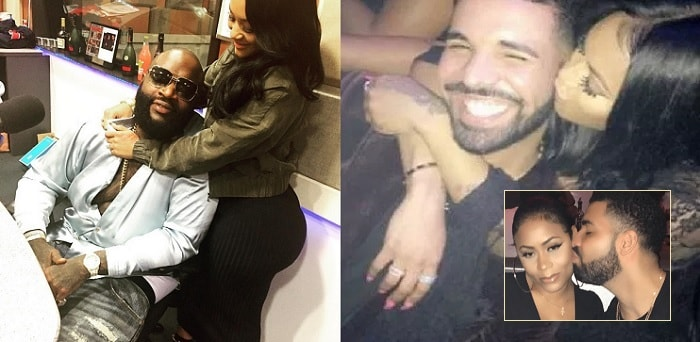 Lira Mercer and her ex lovers, Rick Ross and Canadian rapper, Drake