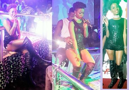 Lydia Jazmine performing in Jinja