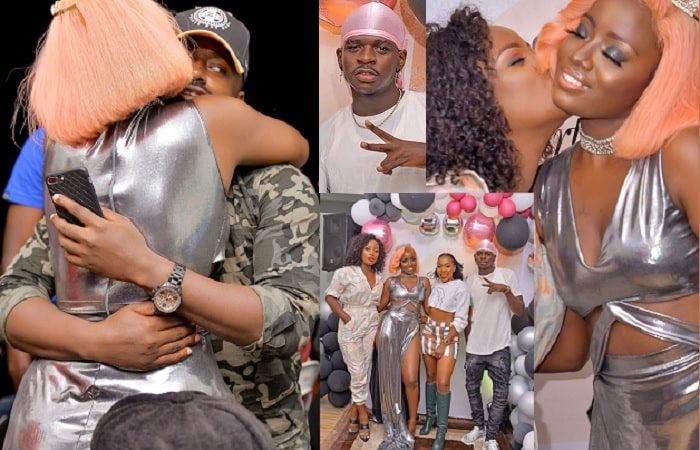 Ykee Benda gets a tight hug from Jazmine