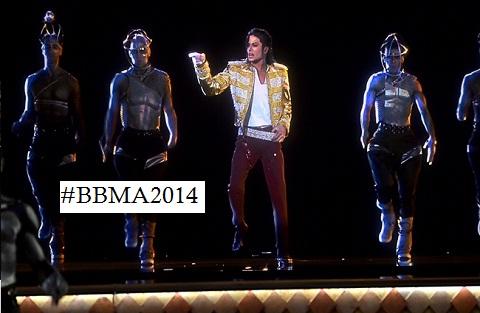 Michael Jackson's hologram on stage