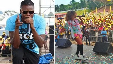Sheebah and Pallaso - MTN Marathon 2015